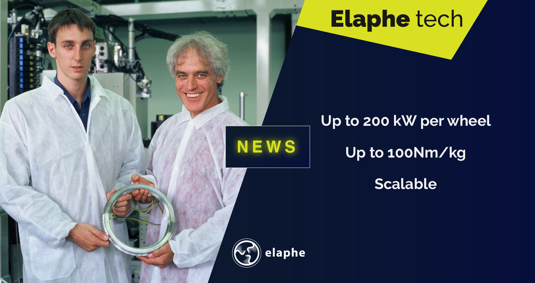 Elaphe Technology Innoenergy investment in-wheel motor